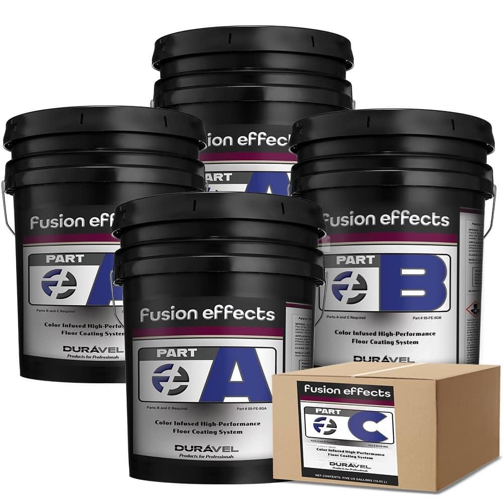 Fusion Effect Flooring System 20 Gallon Kit Part A Part B Part C
